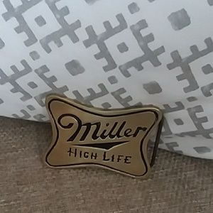 Other - Miller High Life vintage solid brass belt buckle